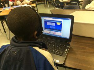 Dillard Student Engaged in Word Study