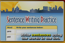 Writing Sentences Using Vocabulary Words