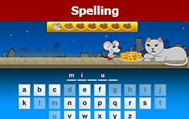 spelling game button